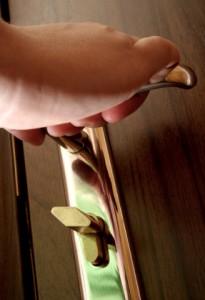 inspect door handles and locks
